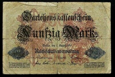 50 Mark 1914 Loan Certificate of the German Empire GERMANY (45E)