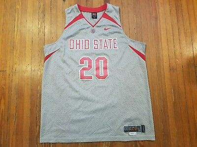 Greg Oden Ohio State Buckeyes Nike Elite Gray Basketball Jersey Men s Size  XL ee8cd7443