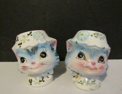 Vtg Lefton Miss Priss Kitty Cat Salt & Pepper Shakers