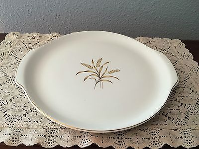 "Vintage Universal Ballerina BROWN WHEAT Pattern 11"" Serving Platter"