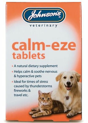 Johnson's Calm Eze Tablets For Dogs And Cats 36 Pack For Nervous Anxious Pets