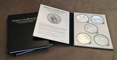 Single Leather Collector Books for America the Beautiful 5oz Silver Coins