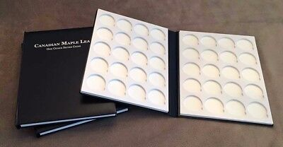 Single Leather Collector Books for Canadian Maple Leaf 1oz Silver Coins