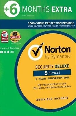 Norton Security Deluxe 2019 5 Devices 5 PC 18 Months 2018 Internet users 2018 UK
