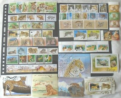 Big Cats thematic worldwide collection - stamp sets & sheets MNH