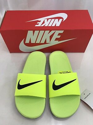 c8ebdf2ad3eb Nike Kawa Slide GS Kids Youth Size 5Y Volt Black 819352 700 Sandal Slip On  NEW