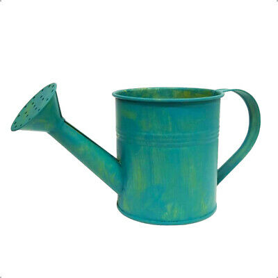 Tin Watering Can in Antique Gray for Rustic Yard Decorations, Crafting