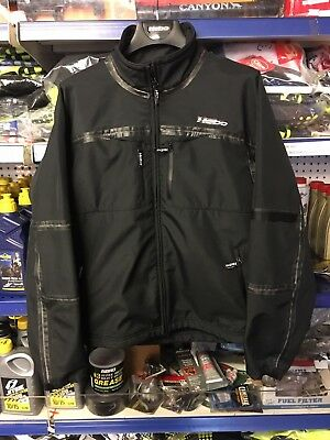 HEBO WIND WATER PROOF trials enduro CAUSAL jacket Large BLACK WARM 4RT TRS BETA