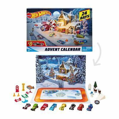 New Hot Wheels Advent Calendar 24 Days 7 Cars & Accs Christmas Xmas Official
