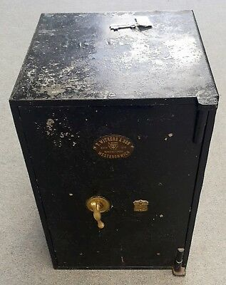 Vintage - Antique Safe With Key / T. Withers & Sons West Bromwich