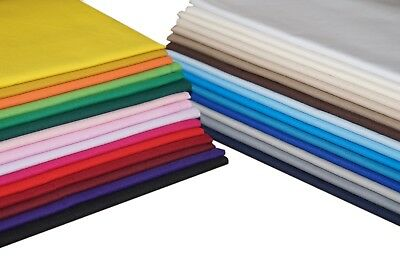 "100% Cotton Poplin Fabric Sheeting Material for Crafts & Quilting - 60"" Wide"