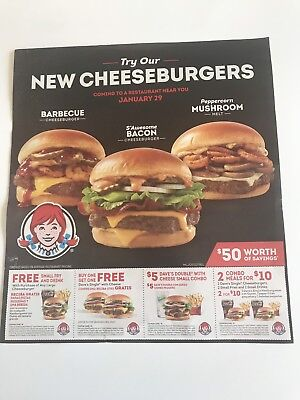 Wendy's Coupons  $50 Worth Of Savings Expires  3/3/19