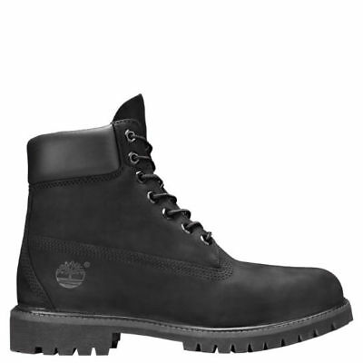 Men's Timberland Premium 6In Waterproof Boot Black Nubuck Tb010073