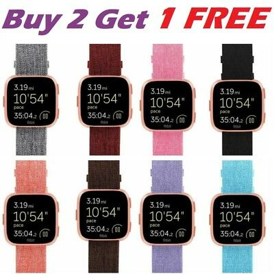 Woven Fabric Replacement Strap Watch Band Wristband For Fitbit Versa Watch