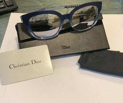 Authentic Christian Dior DIORAMA 1 S 2IL DC Blue Shaded Light Blue  Sunglasses 61af02c4ae85