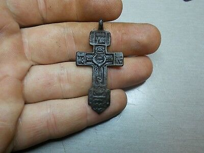 Medieval Cross pendant Ancient find Metal detector finds №170A 100% original