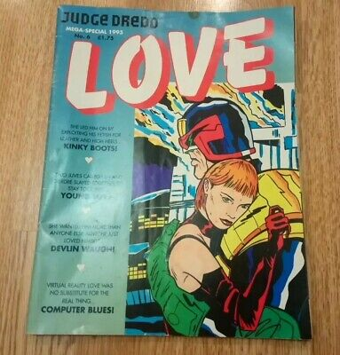 Judge Dredd Mega Special 1993 No 6 Love Hate, Vintage Magazine, Extremely Rare