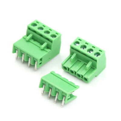20pcs 5.08mm Pitch 4Pin Plug-in Screw PCB Terminal Block Connector F Fq