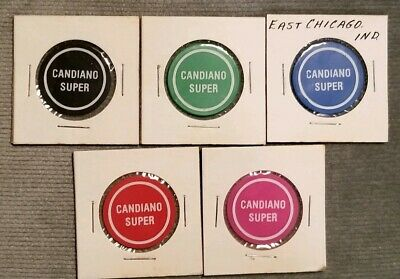 CANDIANO SUPER EAST Chicago Indiana Food Stamp 1c 50c Trade Tokens Set