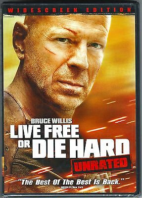 Live Free or Die Hard Unrated Edition DVD Bruce Willis Justin Long New