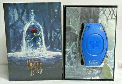 NEW Disney Beauty Beast Magicband Blue Limited LE 2500 Belle WDW Parks Unlinked