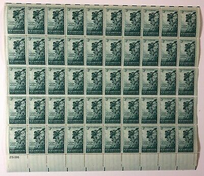 U.S. #1068 1955 3¢ Old Man of the Mountain New Hampshire Issue - Sheet of 50