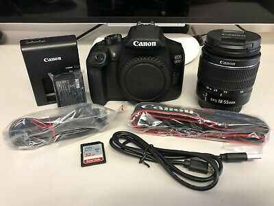 Canon 1300D + 18-55mm + Battery Charger + 32GB SD Card (Shutter 40-77000)
