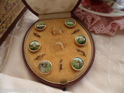 Antique Jewellery Football Gold Buttons Old Case Box Vintage Mens Dress Jewelry Jewelry & Watches
