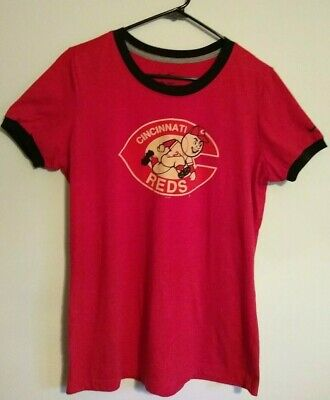 NIKE Cincinnati Reds Girls Top Size XL Slim Fit
