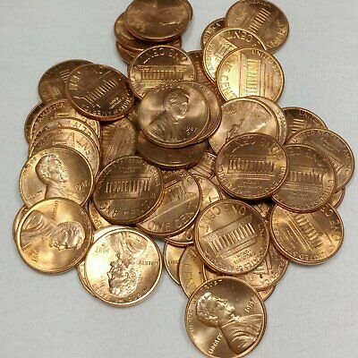 1987-D Lincoln Memorial Cent Penny BU Roll (50 coins)