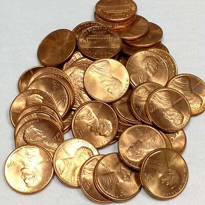 1990-D Lincoln Memorial Cent Penny BU Roll (50 coins)