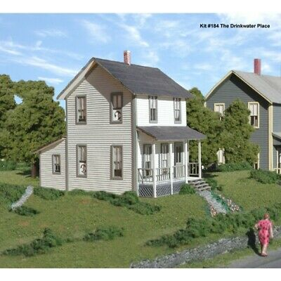 American Model Builders 184 - Drinkwater Place (Frame House) - HO Scale Kit