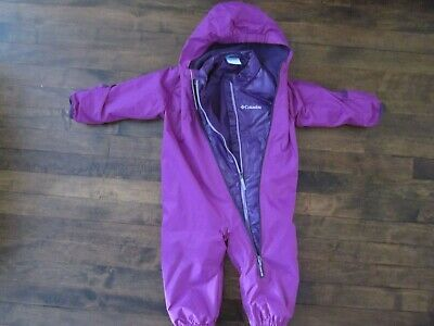 4a0883e84 COLUMBIA BABY WHIRLIBIRD Interchange pink bunting rainsuit and ...