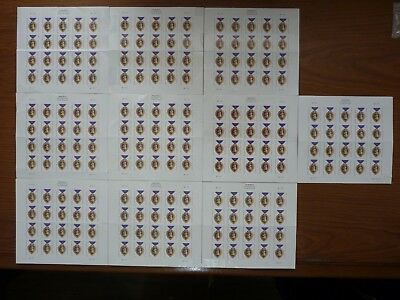 USPS FOREVER Stamps Hinged 10 Books 200 Stamp Value $110 Free Shipping