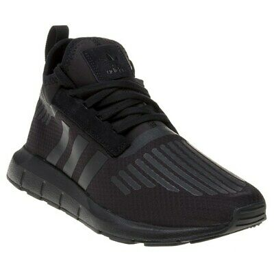 29db9c757 New Mens adidas Black Swift Run Barrier Textile Trainers Running Style Lace  Up
