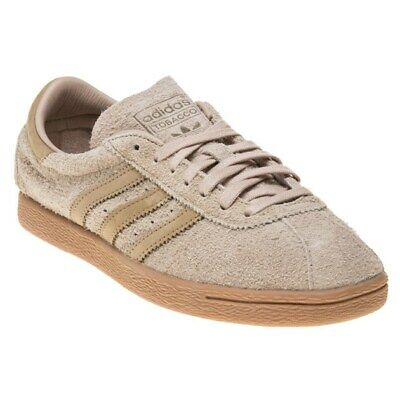 NEW MENS ADIDAS Tan Brown Tobacco Suede Trainers Retro Lace