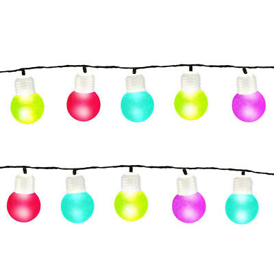 Multi-Coloured LED Indoor Outdoor Party String Garden Globe Bulb Lights 7.35m