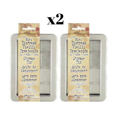 Mini Distress Ink Storage Tin By Tim Holtz for Ranger - 2 Pack