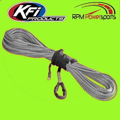 """KFI Replacement Synthetic Winch Rope 1//4/"""" X 50/' Smoke 4000-5000LB SYN25-S50"""