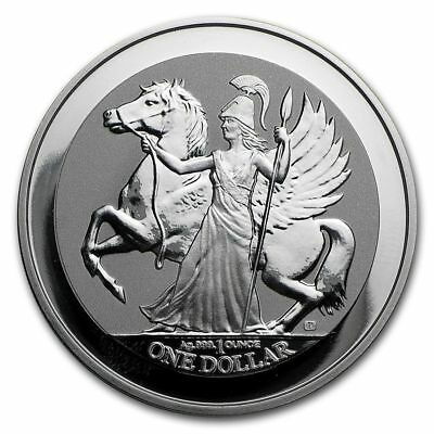 2017 BVI 1 oz Silver Pegasus Reverse Frosted Proof-like BU | Mint sealed coin