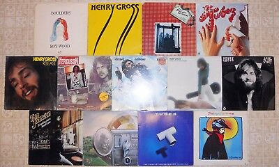 70's Pop Rock, 13 Vinyl Record Lot, All LP, All 1st Press 1 Sealed 1 Promo Tubes