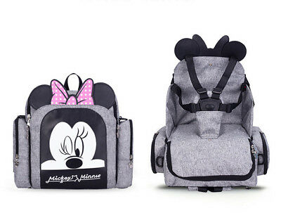 Minnie Mickey mouse Baby Diaper Nappy Backpack Mummy Changing Bag baby seats mom