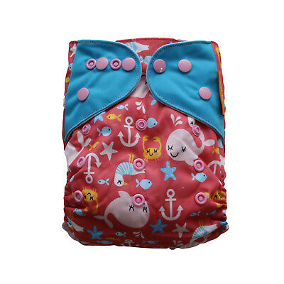 New Happy Sea Pocket One-Size Cloth Diaper Happy Flute w/ Snaps USA Seller