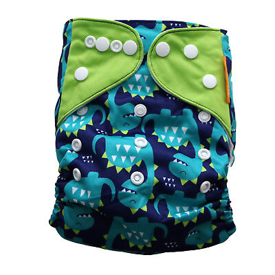 New Dinosaur Pocket Cloth Diaper Happy Flute with Snaps *USA Seller*