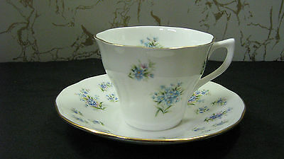 """Duchess Tea Cup and Saucer England Bone China Queens #13 Baby's Breath """"NICE"""" !"""