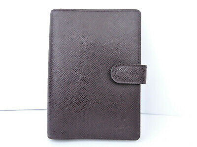 Authentic Louis Vuitton Taiga Leather Agenda Pm Day Planner Diary Note Cover