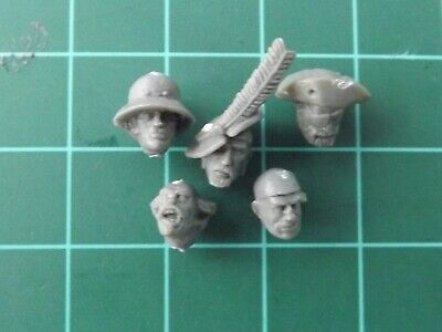 Warhammer Empire Free Peoples Freeguild Militia Heads x5