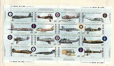 Canada 1999 Air Force sheet. Unitrade #1808 VFMNH CV $25.00