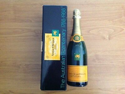 The Australian Bicentenary 1788-1988 Veuve Clicquot Brut Collector Bottle sealed