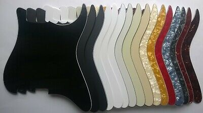 Stratocaster Blank NO HOLES Pickguard US spec Strat: various colours 1 3 4 ply